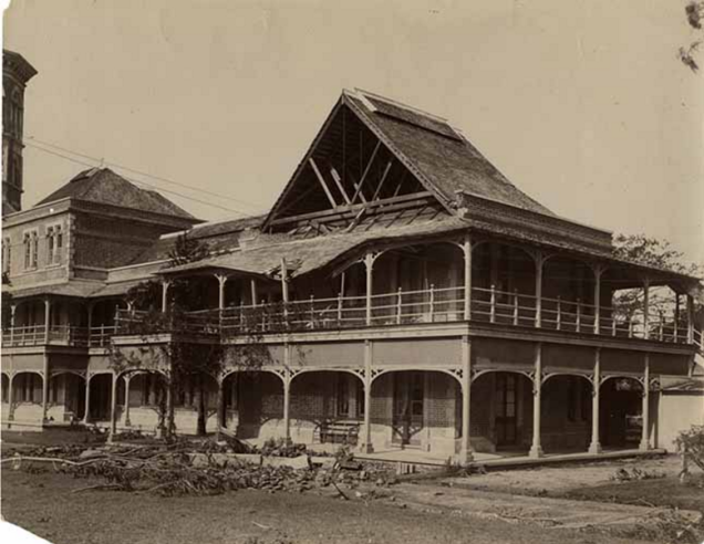 Gable at Mico College blown down in Hurricane 190