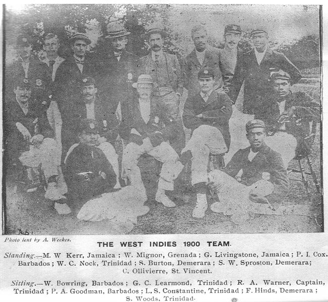West Indies 1900 Team