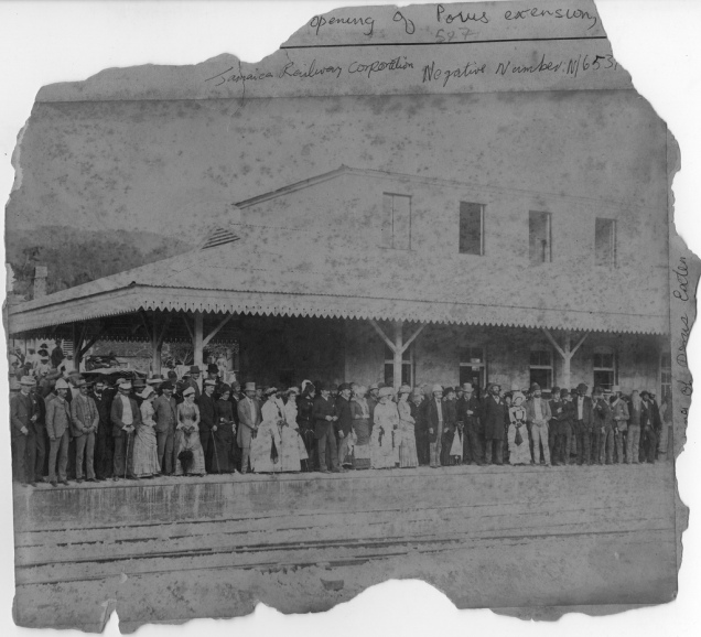jamaica railway - Porus opening -1896